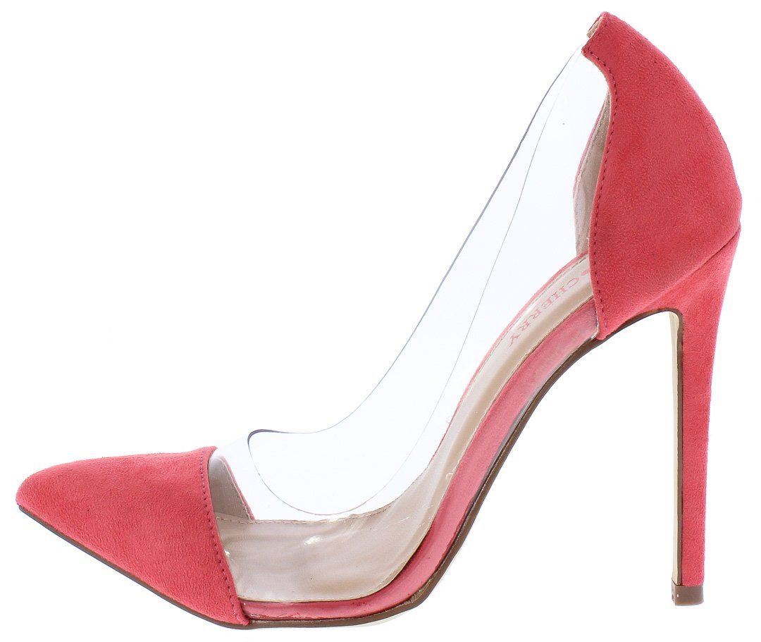 5ba7be6d5fd Ricky11 Pink Pointed Toe Lucite Stiletto Pump Heels Only  10.88 ...