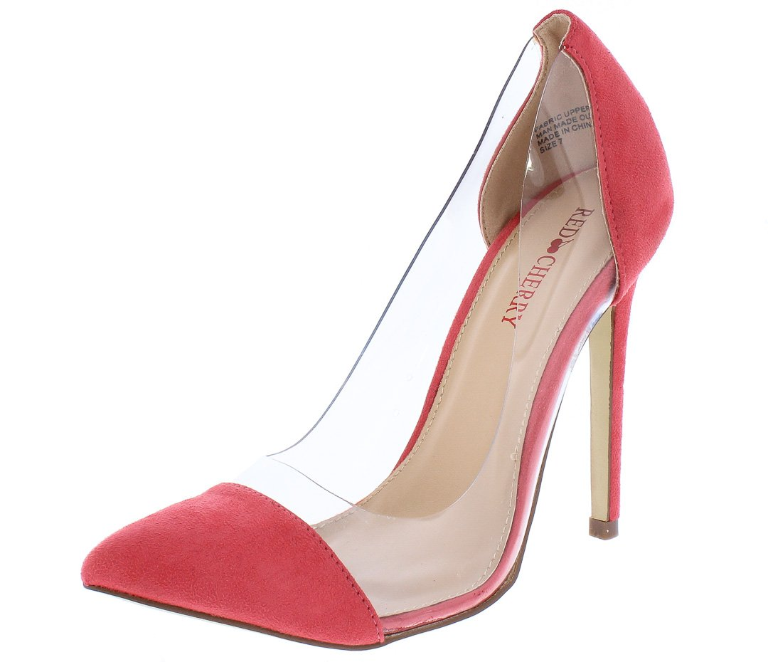766217c68e Ricky11 Pink Pointed Toe Lucite Stiletto Pump Heel - Wholesale Fashion Shoes