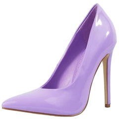 RICKY6 LILAC FAUX PATENT POINTED TOE HEEL - Wholesale Fashion Shoes