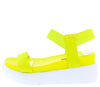 Riddle01 Neon Yellow Women's Sandal - Wholesale Fashion Shoes