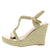 Rina02 Gold Women's Wedge