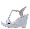 Rina02 Silver Women's Wedge - Wholesale Fashion Shoes