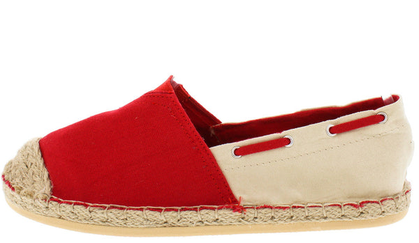 3d20c3e9c Riri01 Red Espadrille Rope Slip on Flat