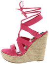 Rondo Coral Strappy Lace Up Ankle Wrap Espadrille Wedge - Wholesale Fashion Shoes