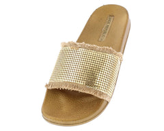 ROOROO GOLD WOMAN'S FLAT - Wholesale Fashion Shoes