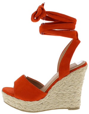 a33927e262ce Adalyn060 Coral Suede Women s Wedge - Wholesale Fashion Shoes