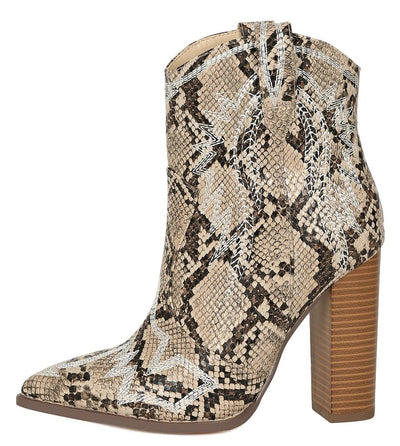 Christy092 Snake Women's Boot - Wholesale Fashion Shoes