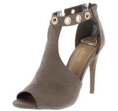 ROYALS33S TAUPE WOMEN'S HEEL - Wholesale Fashion Shoes