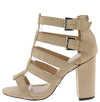 Makayla208 Nude Suede Women's Heel - Wholesale Fashion Shoes