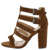 Makayla208 Tan Suede Women's Heel - Wholesale Fashion Shoes