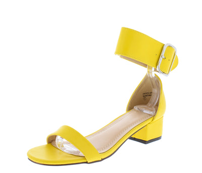 Tiffany090 Yellow Pu Women's Heel - Wholesale Fashion Shoes