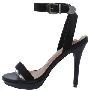 1c589d6287c Mia085 Black Open Toe Cross Back Ankle Strap Stiletto Heel - Wholesale  Fashion Shoes