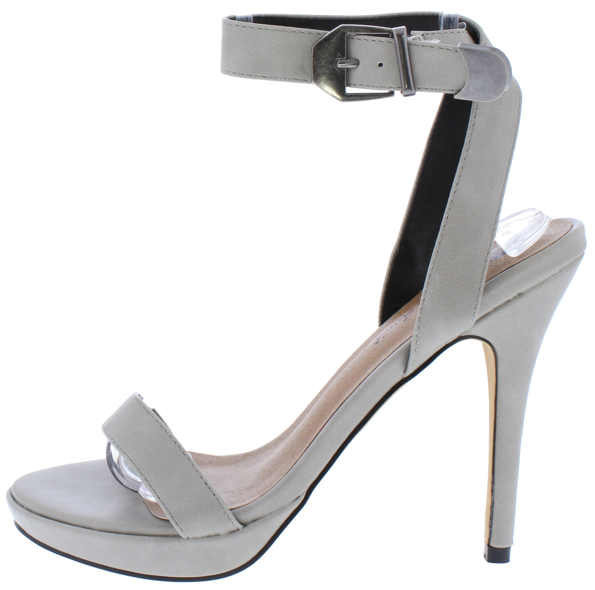 5c1af5e7f94 Mia085 Grey Open Toe Cross Back Ankle Strap Stiletto Heel - Wholesale  Fashion Shoes