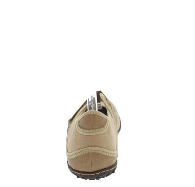 Sahara72 Taupe Velcro Tennis Shoe Rubber Sole Flat - Wholesale Fashion Shoes