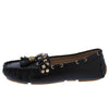 Mila275 Black Studded Stitch Tassel Loafer Flat - Wholesale Fashion Shoes