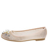 Ella010 Blush Rhinestone Pearl Round Toe Mesh Ballet Flat - Wholesale Fashion Shoes