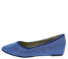 SF5328 Blue Women's Flat - Wholesale Fashion Shoes