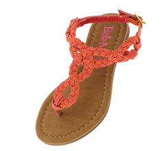 SOPHIE4K CORAL BRAIDED KIDS SANDAL - Wholesale Fashion Shoes