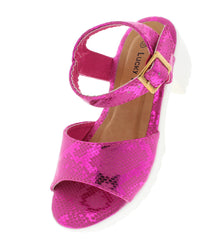 SPORT87K FUCHSIA PYTHON LUG SOLE KIDS SHOES - Wholesale Fashion Shoes