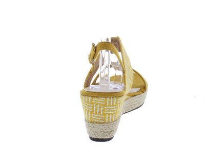 Stacey300lw Yellow Women's Wedge - Wholesale Fashion Shoes