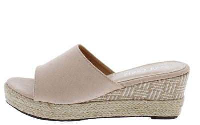 Stacey302lw Beige Women's Wedge - Wholesale Fashion Shoes