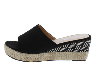 Stacey302lw Black Women's Wedge - Wholesale Fashion Shoes