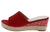 Stacey302lw Red Women's Wedge