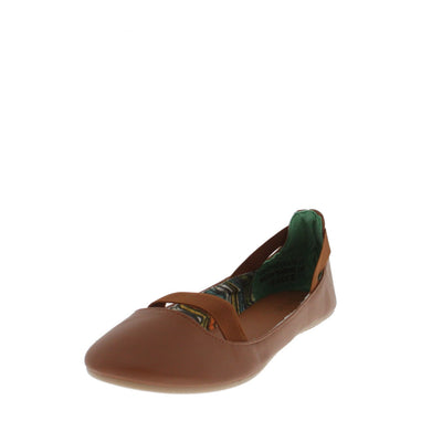 Standouts20a Chestnut Elastic Ballet Flat - Wholesale Fashion Shoes