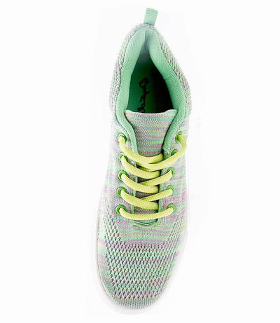 Swap01 Green Lace Up Tennis Shoe Flat - Wholesale Fashion Shoes