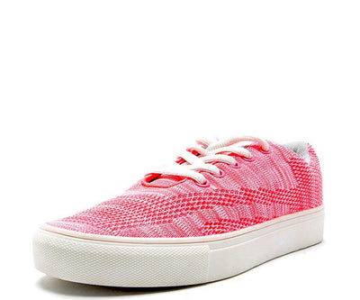 Swap01 Neon Pink Lace Up Tennis Shoe Flat - Wholesale Fashion Shoes