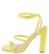 Ava09 Yellow Women's Heel - Wholesale Fashion Shoes