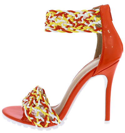 Saloman Orange Woman's Heel - Wholesale Fashion Shoes