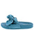 Sandy03 Blue Knotted Open Toe Mule Slide Sandal