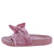 Sandy03 Mauve Knotted Open Toe Mule Slide Sandal
