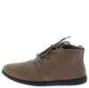 Scala02 Mocha Slight Extended Shaft Lace Up Sneaker Flat - Wholesale Fashion Shoes