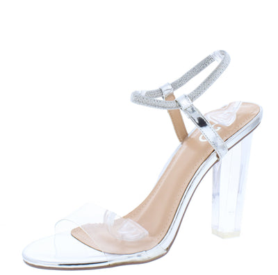 Scorpioez Silver Women's Heel - Wholesale Fashion Shoes