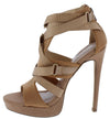 Seduce Taupe Women's Heel - Wholesale Fashion Shoes