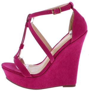 d073a5b6fa1b Selia1 Fuchsia Women s Wedge - Wholesale Fashion Shoes