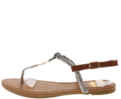 Setllatz1 Snake Emblem Thong Sandal - Wholesale Fashion Shoes