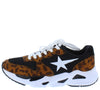 Shak Leopard Side Star Lace Up Sneaker Flat - Wholesale Fashion Shoes