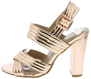 dac1aa6868d ... Ankle Strap Short Heel  10.88 · Shine82 Rose Gold Quilted Open Toe  Cross Band Chunky Heel - Wholesale Fashion Shoes