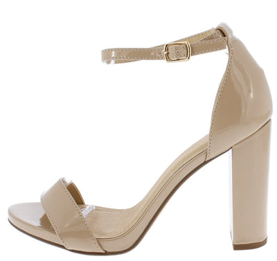 Shiners Dark Beige Women's Heel - Wholesale Fashion Shoes