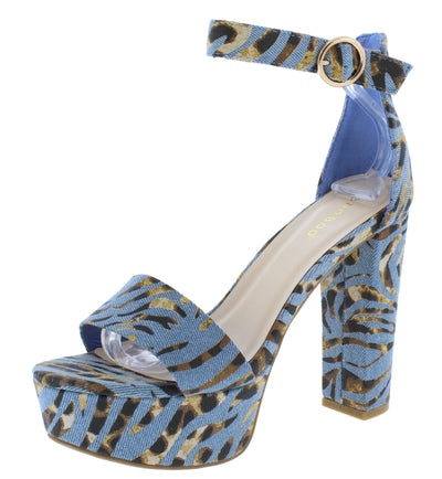 Shocking23 Denim Multi Women's Heel - Wholesale Fashion Shoes