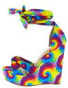 Shona7 Yellow Tie Dye Women's Wedge - Wholesale Fashion Shoes