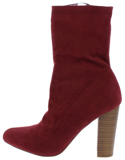 Simon Wine Suede Women's Boot - Wholesale Fashion Shoes