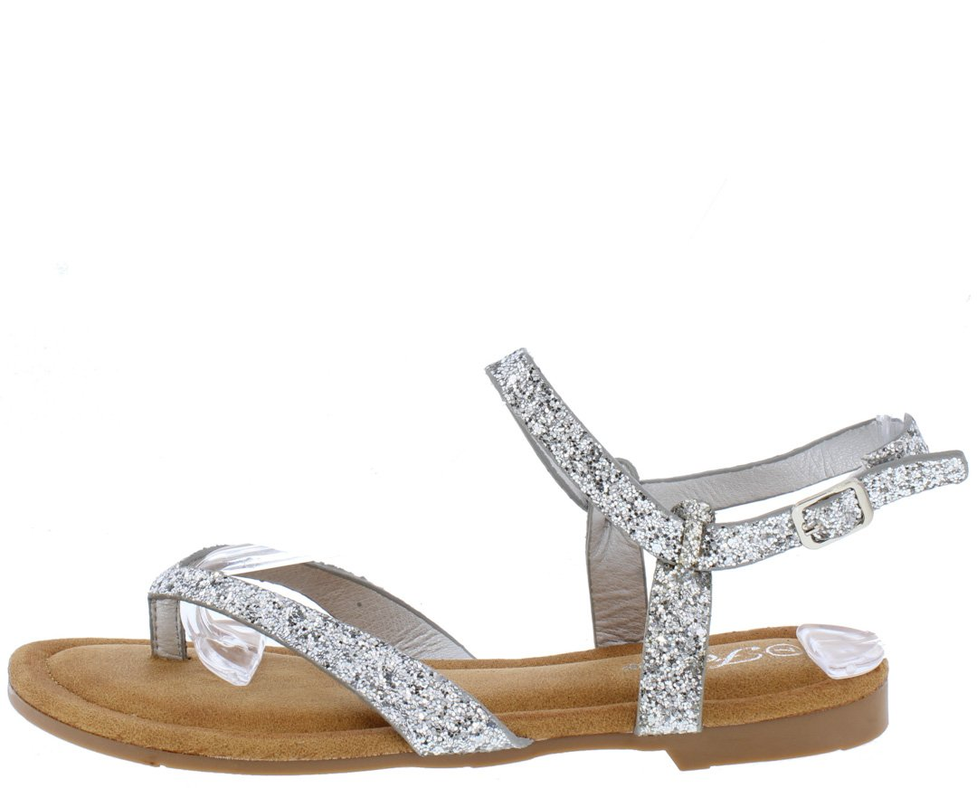 42a45b15f Sling31 Silver Glitter Slingback Ankle Strap Thong Sandal - Wholesale  Fashion Shoes