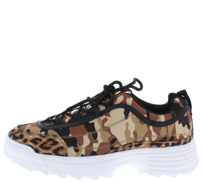 Sneaky04 Camel Camouflage Fabric Women's Flat - Wholesale Fashion Shoes