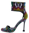 Jocelyn268 Multi Snake Open Toe Ankle Band Rear Zip Stiletto Heel - Wholesale Fashion Shoes