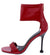 Jocelyn268 Red Open Toe Ankle Band Rear Zip Stiletto Heel