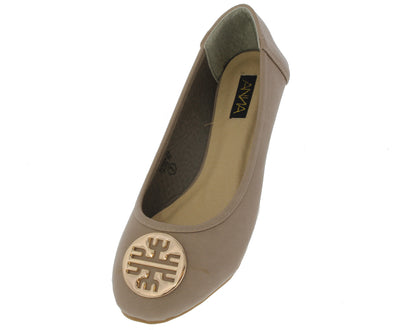 Sonia20 Taupe Flat Shoes - Wholesale Fashion Shoes